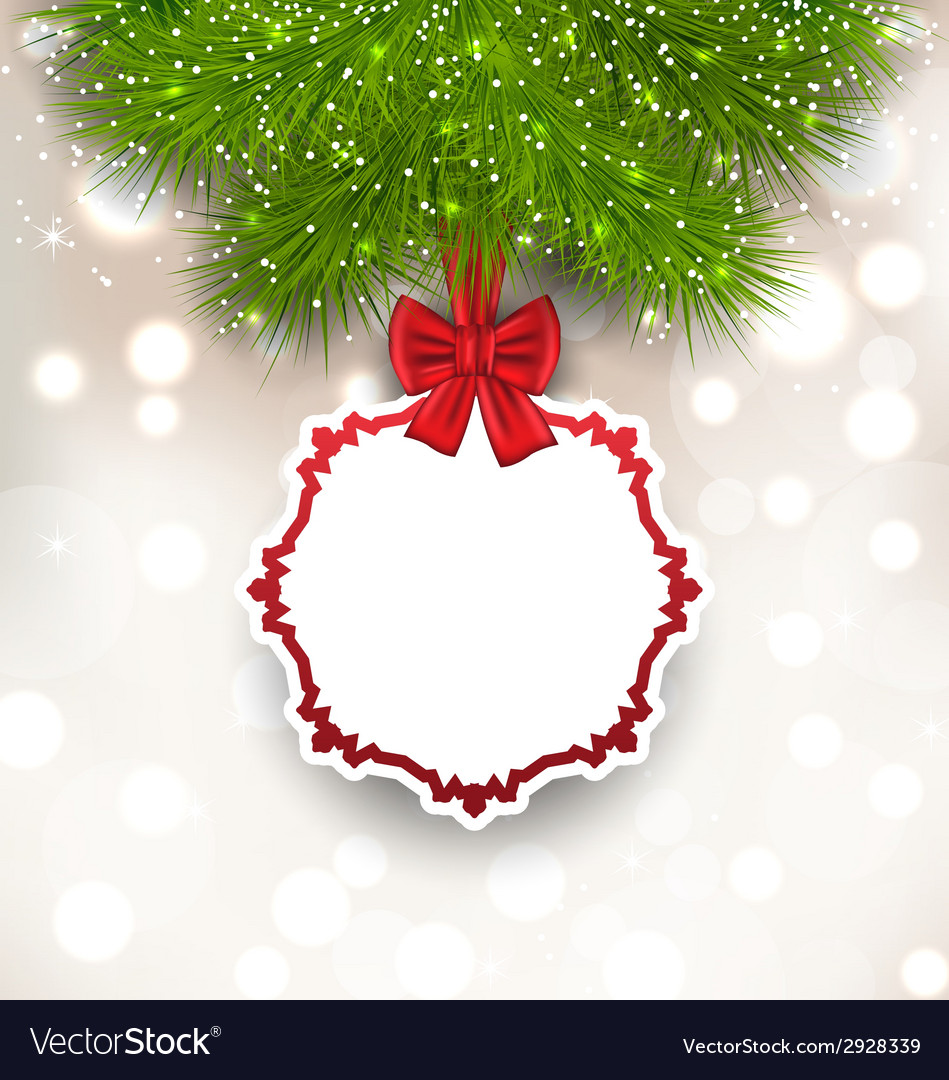 Glowing background with christmas card vector | Price: 1 Credit (USD $1)