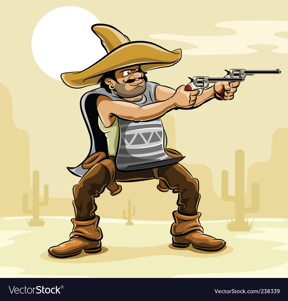 Mexican bandit vector | Price: 5 Credit (USD $5)