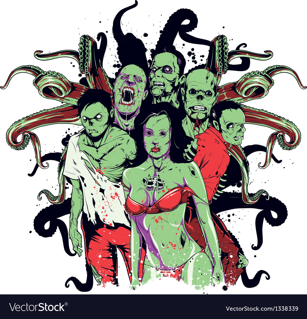 Sexy zombies vector   Price: 3 Credit (USD $3)
