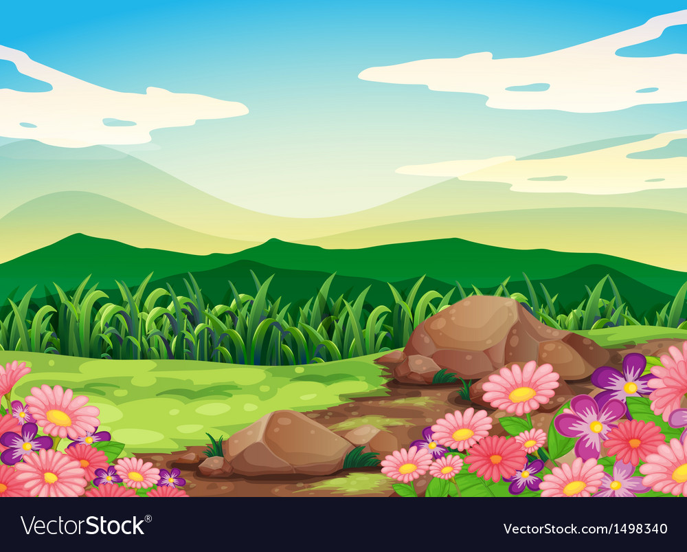 A beautiful scenery vector | Price: 1 Credit (USD $1)