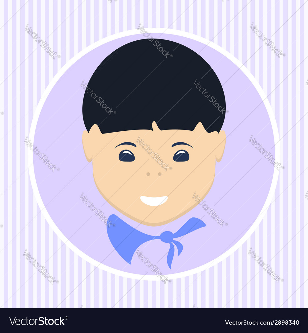Asian boy vector | Price: 1 Credit (USD $1)