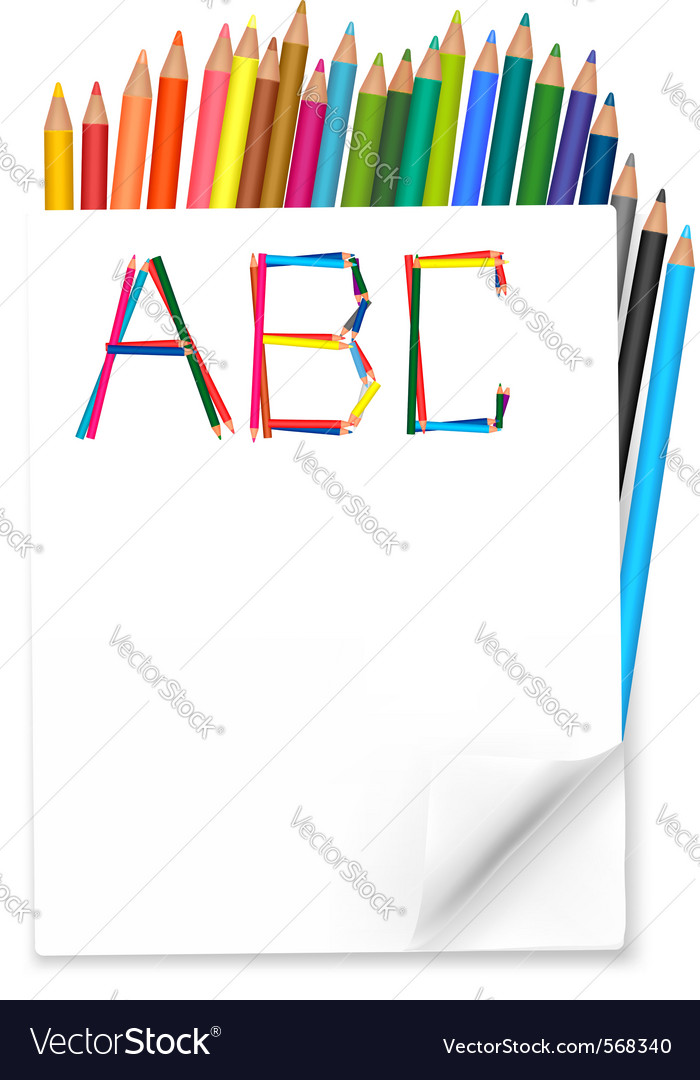 Background with colorful pencils vector | Price: 1 Credit (USD $1)