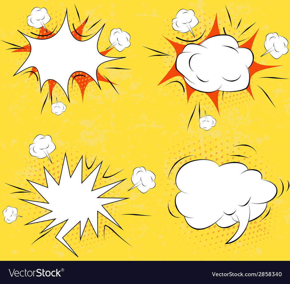 Boom comic book explosion set vector | Price: 1 Credit (USD $1)
