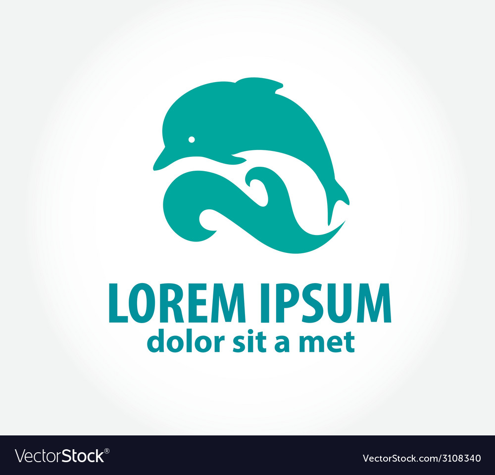 Dolphin icon design element vector | Price: 1 Credit (USD $1)