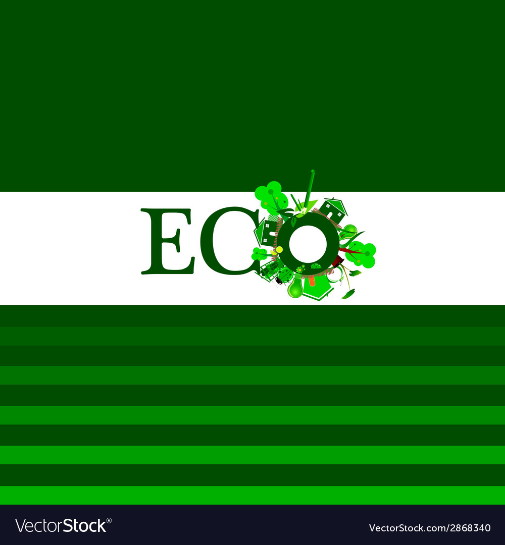 Eco word for background vector | Price: 1 Credit (USD $1)