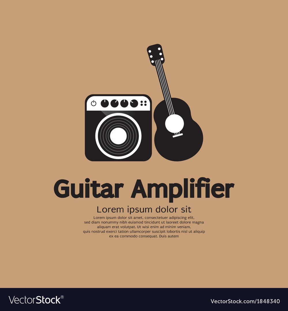 Guitar and amplifier vector | Price: 1 Credit (USD $1)