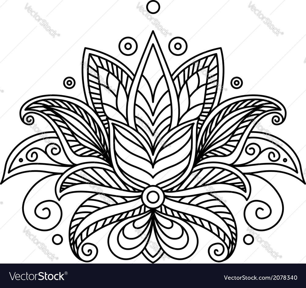 Turkish or persian floral design vector | Price: 1 Credit (USD $1)