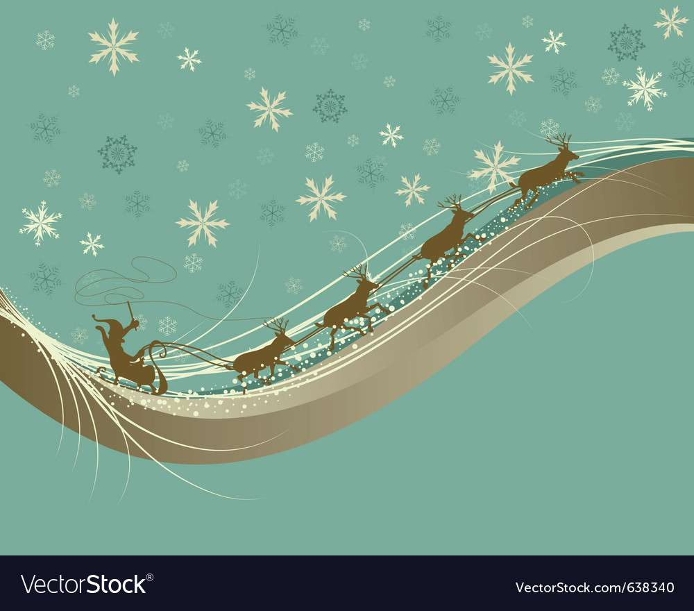 Vintage retro christmas vector | Price: 1 Credit (USD $1)