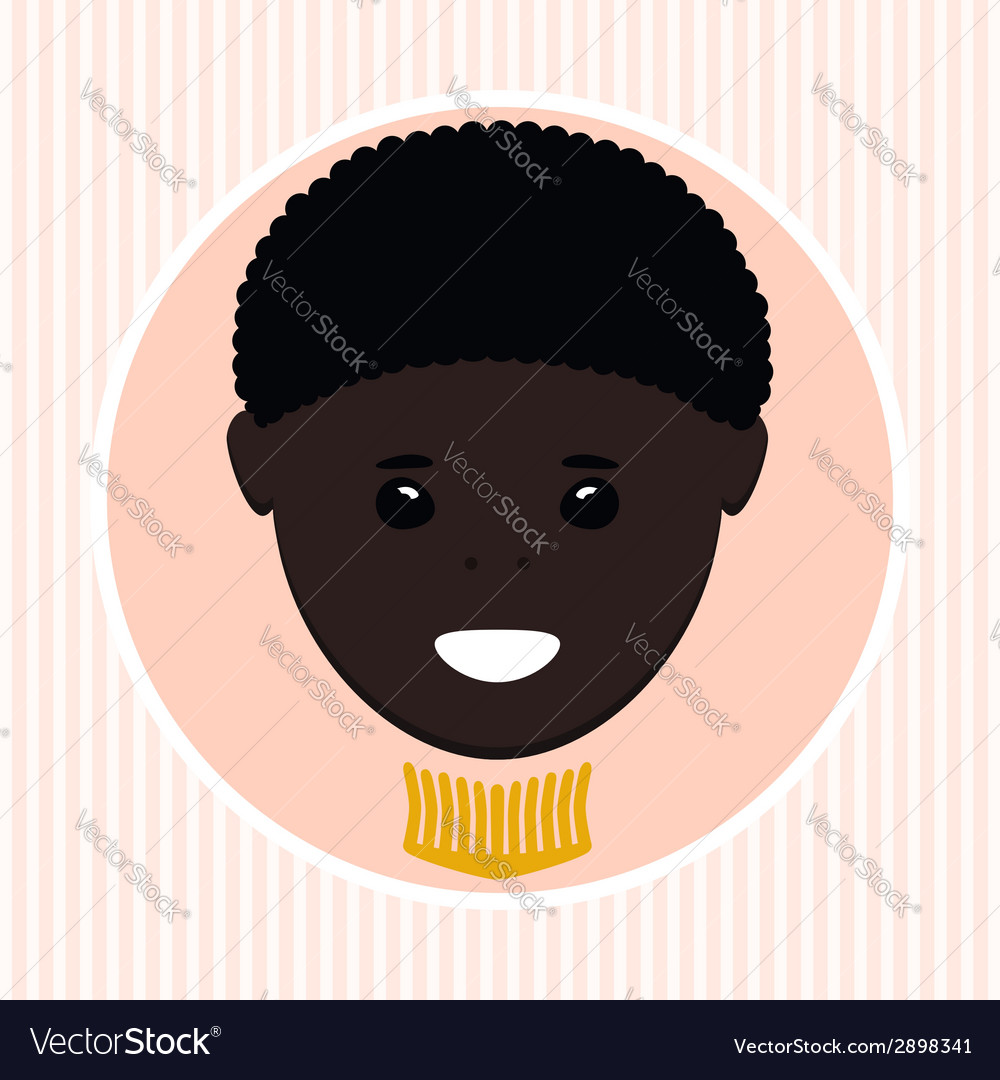 African american boy vector | Price: 1 Credit (USD $1)