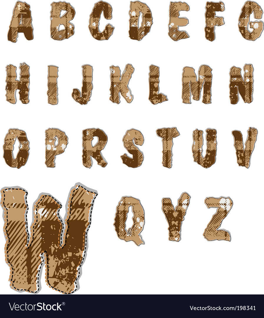 Alphabet collection vector | Price: 1 Credit (USD $1)