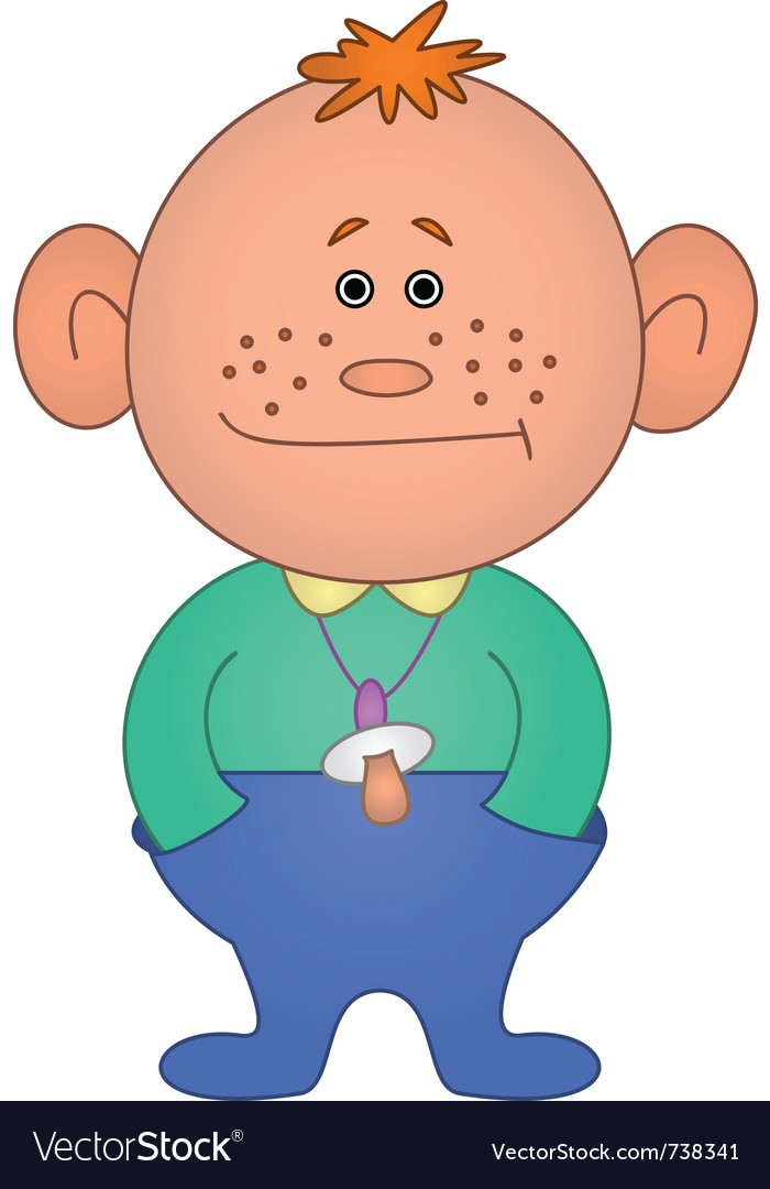 Baby with a dummy vector | Price: 1 Credit (USD $1)