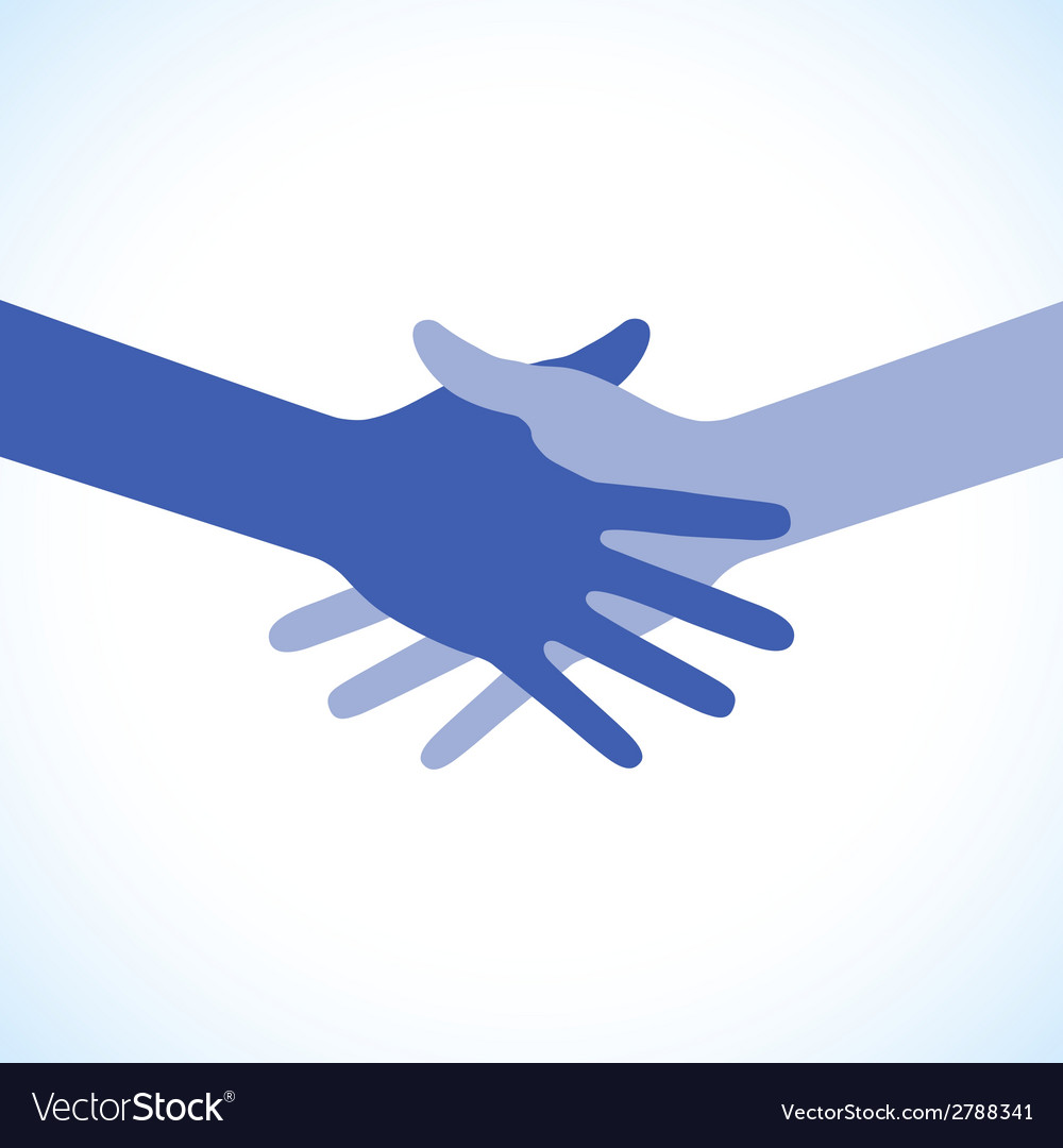 Blue icon hand shake for business and finance vector | Price: 1 Credit (USD $1)