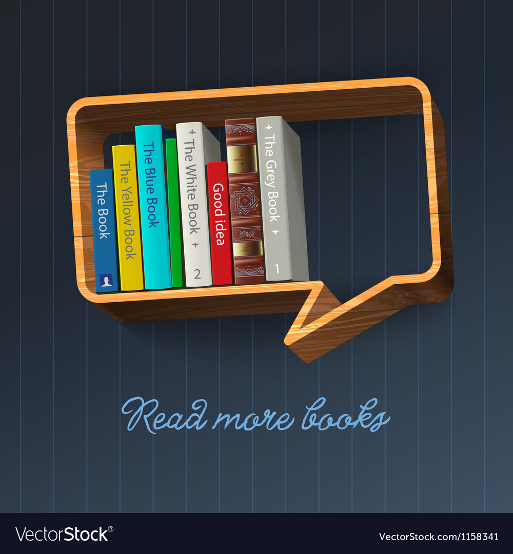 Bookshelf in the form of speech bubble vector | Price: 1 Credit (USD $1)