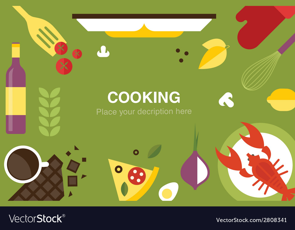 Cooking desk header vector | Price: 1 Credit (USD $1)