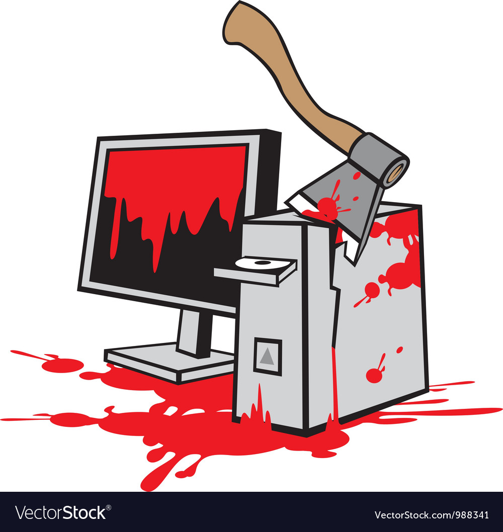 Dead computer vector | Price: 3 Credit (USD $3)