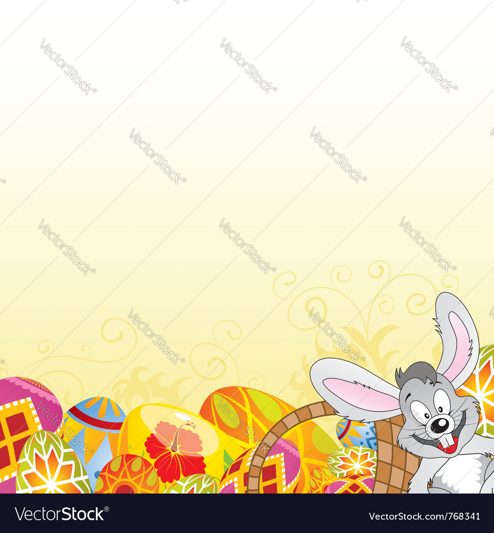Easter frame vector | Price: 1 Credit (USD $1)