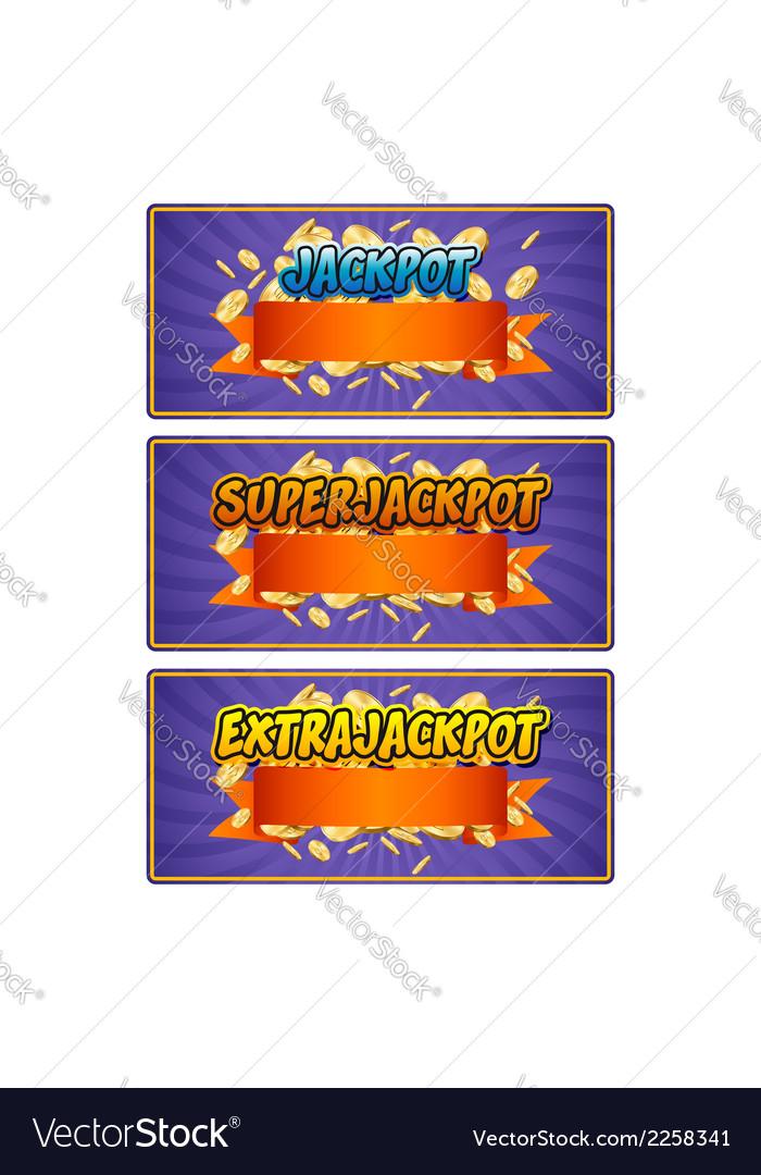 Jackpot vector   Price: 1 Credit (USD $1)