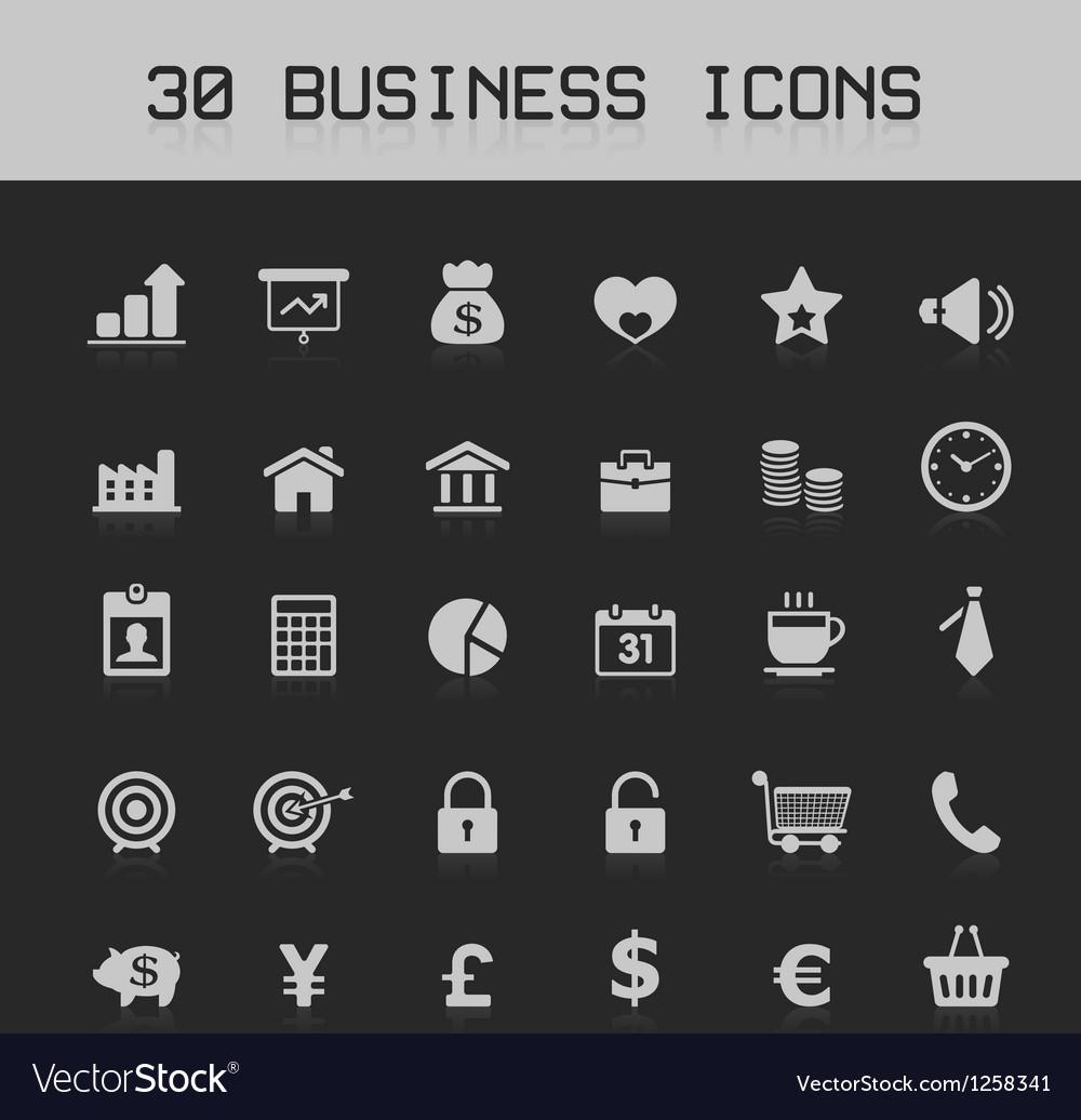 Light business design element icon set vector | Price: 1 Credit (USD $1)