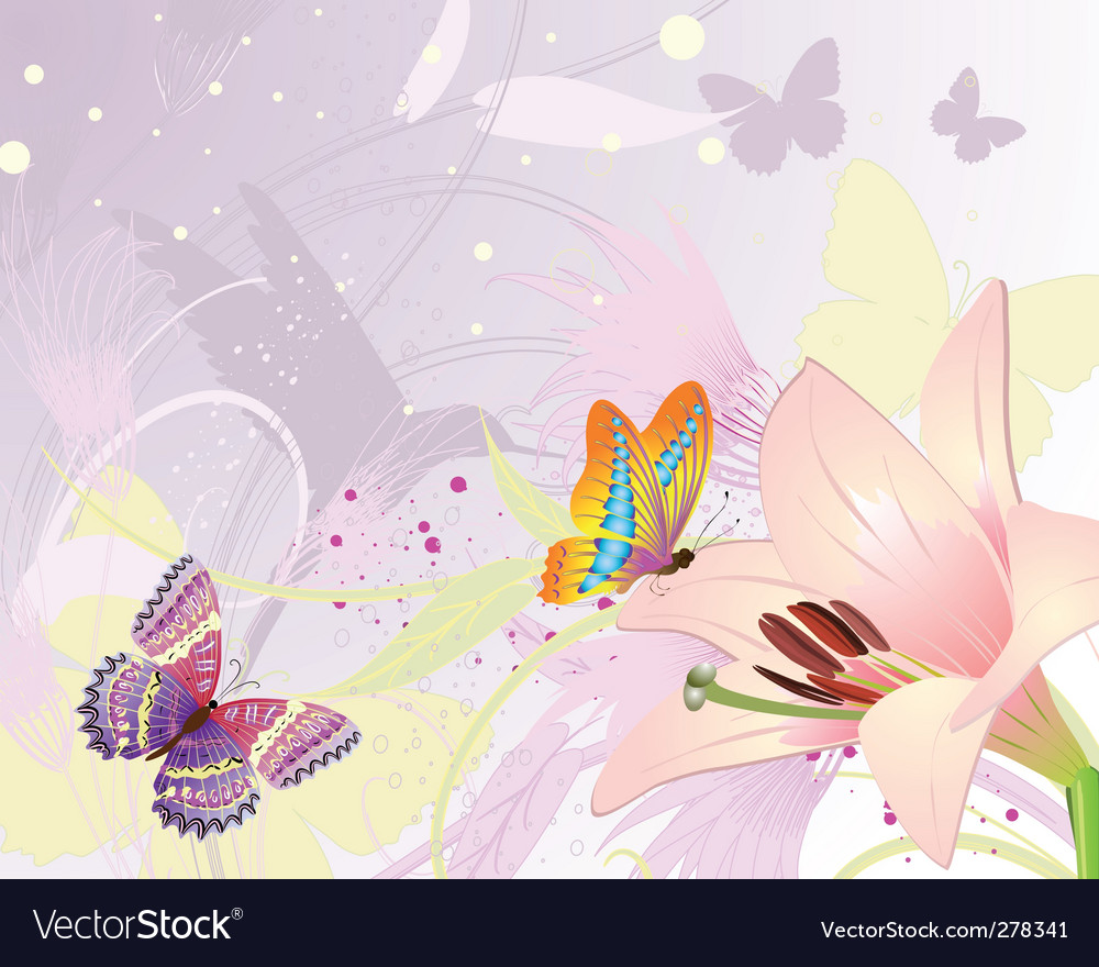Pink floral fantasy vector | Price: 1 Credit (USD $1)