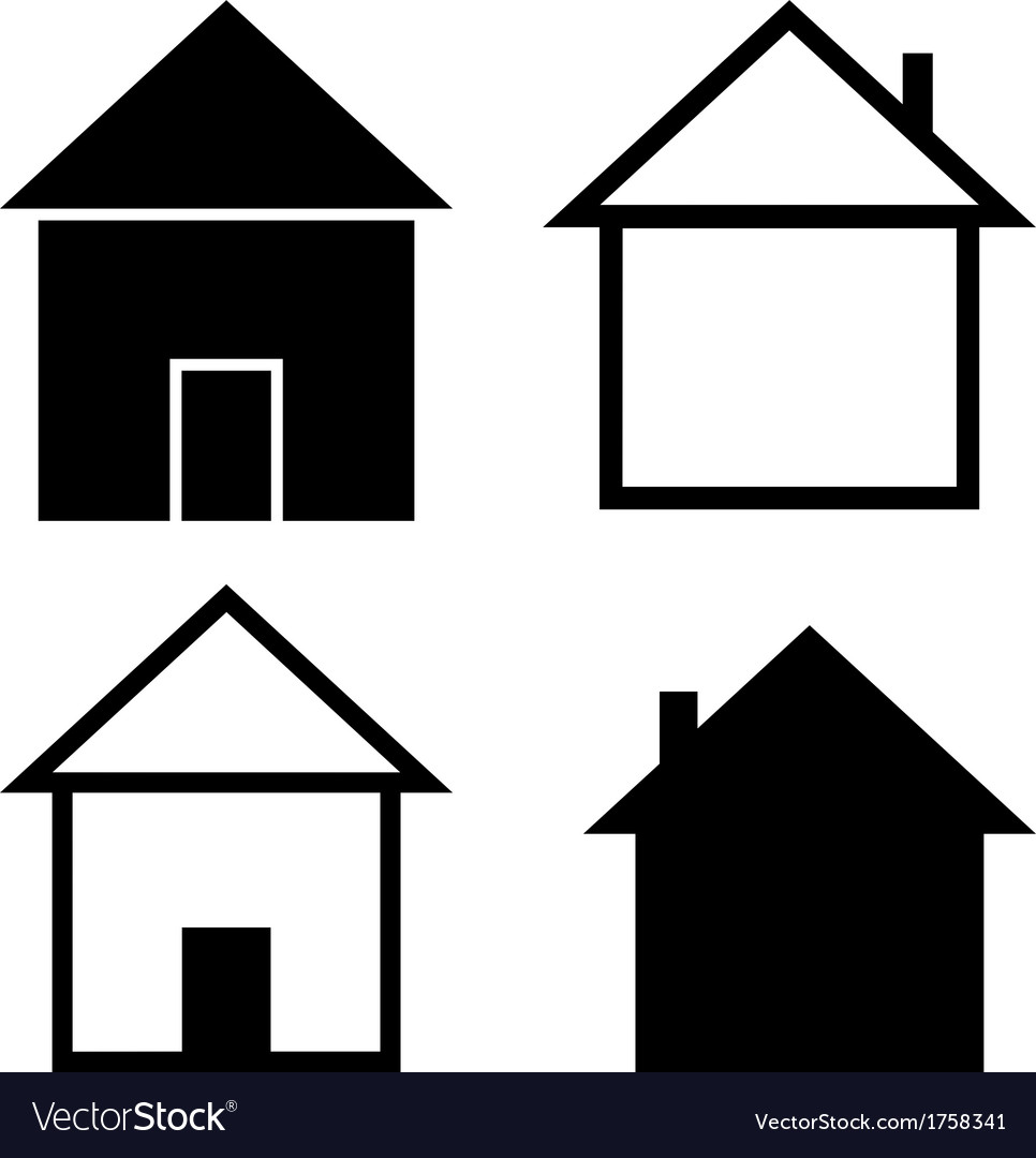 Set of the silhouettes houses vector   Price: 1 Credit (USD $1)
