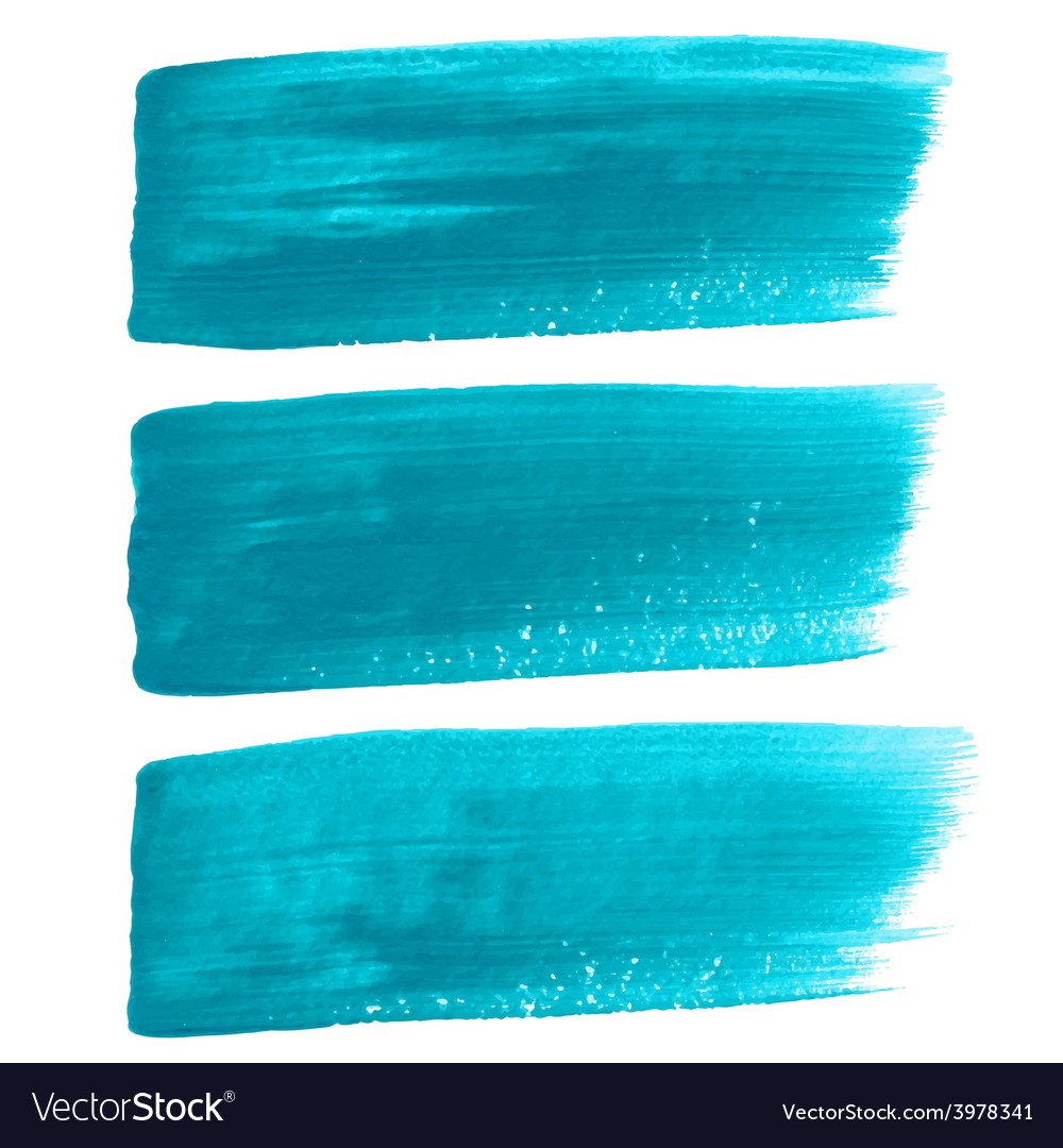 Turquoise ink brush strokes vector | Price: 1 Credit (USD $1)