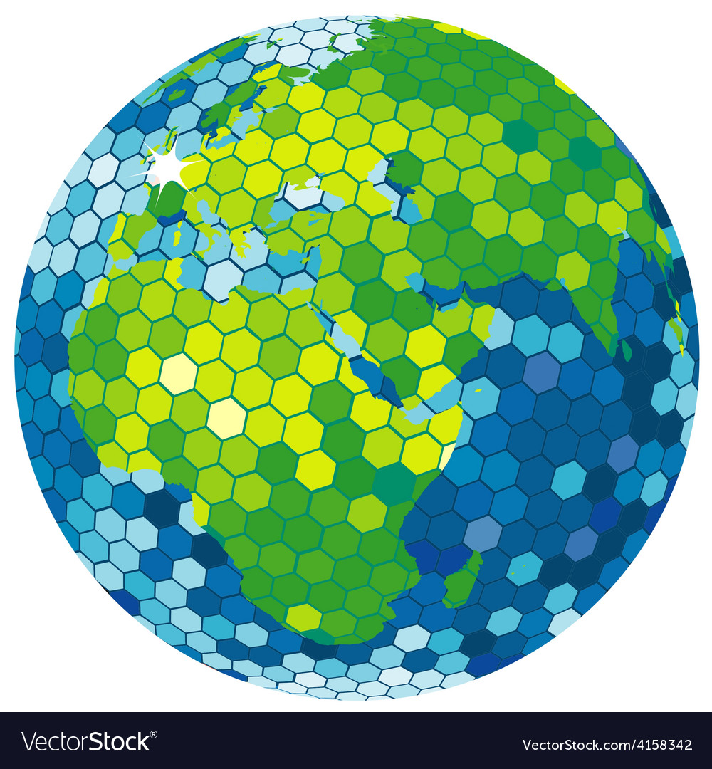 Earth globe disco ball vector   Price: 1 Credit (USD $1)