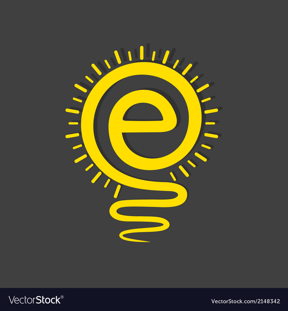 Email sign male a light-bulb vector | Price: 1 Credit (USD $1)
