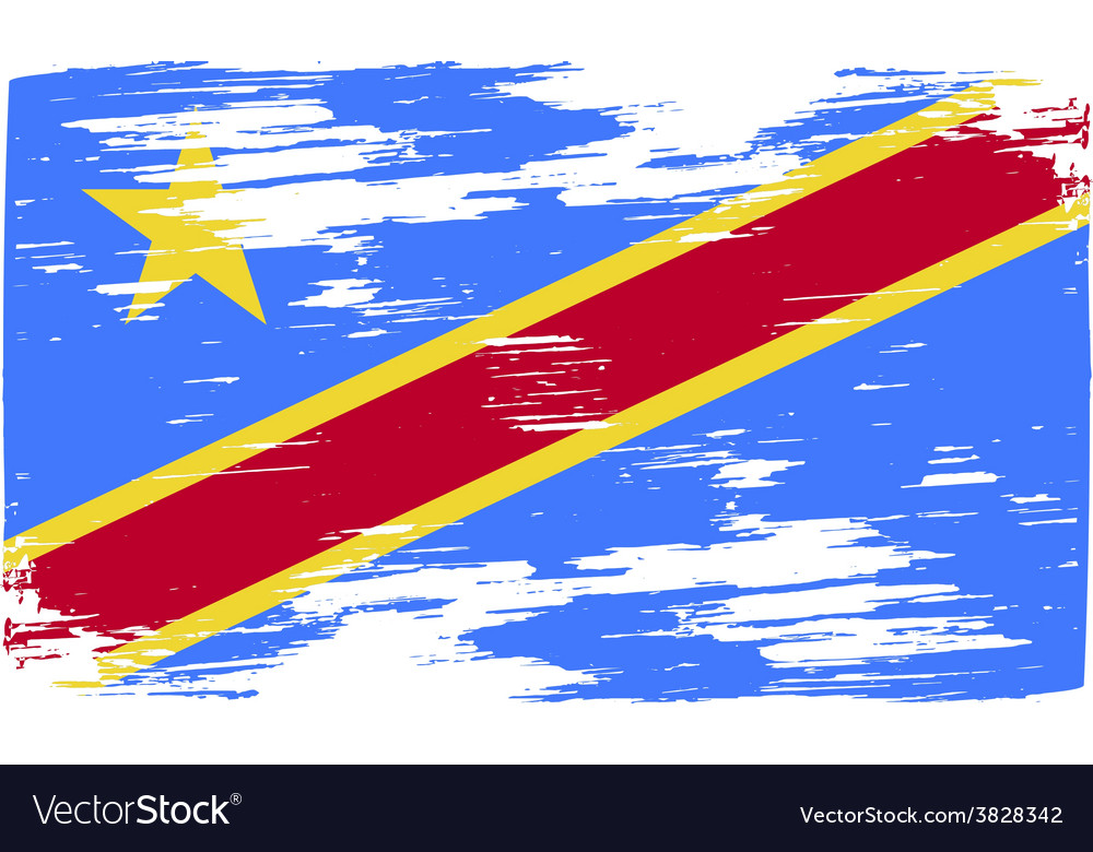 Flag of congo democratic republic with old texture vector   Price: 1 Credit (USD $1)