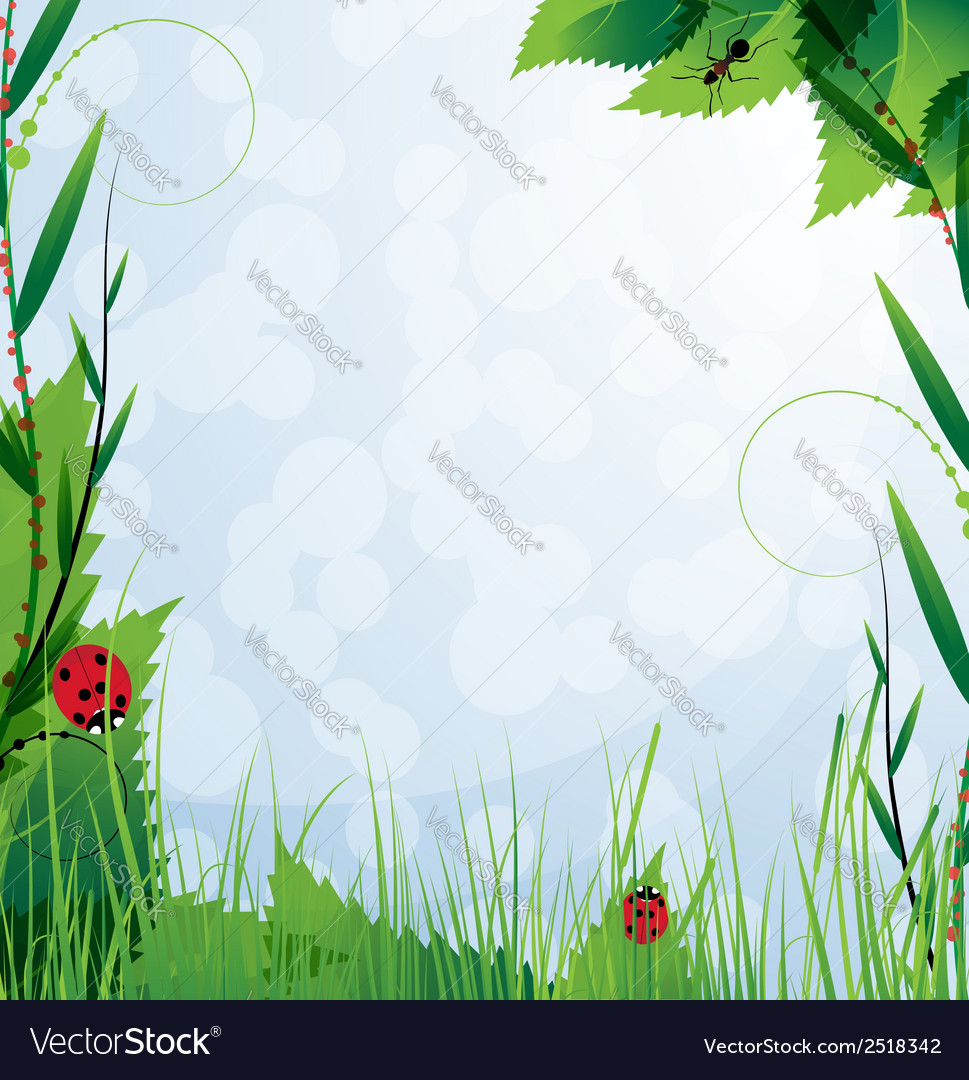 Floral landscape vector | Price: 1 Credit (USD $1)
