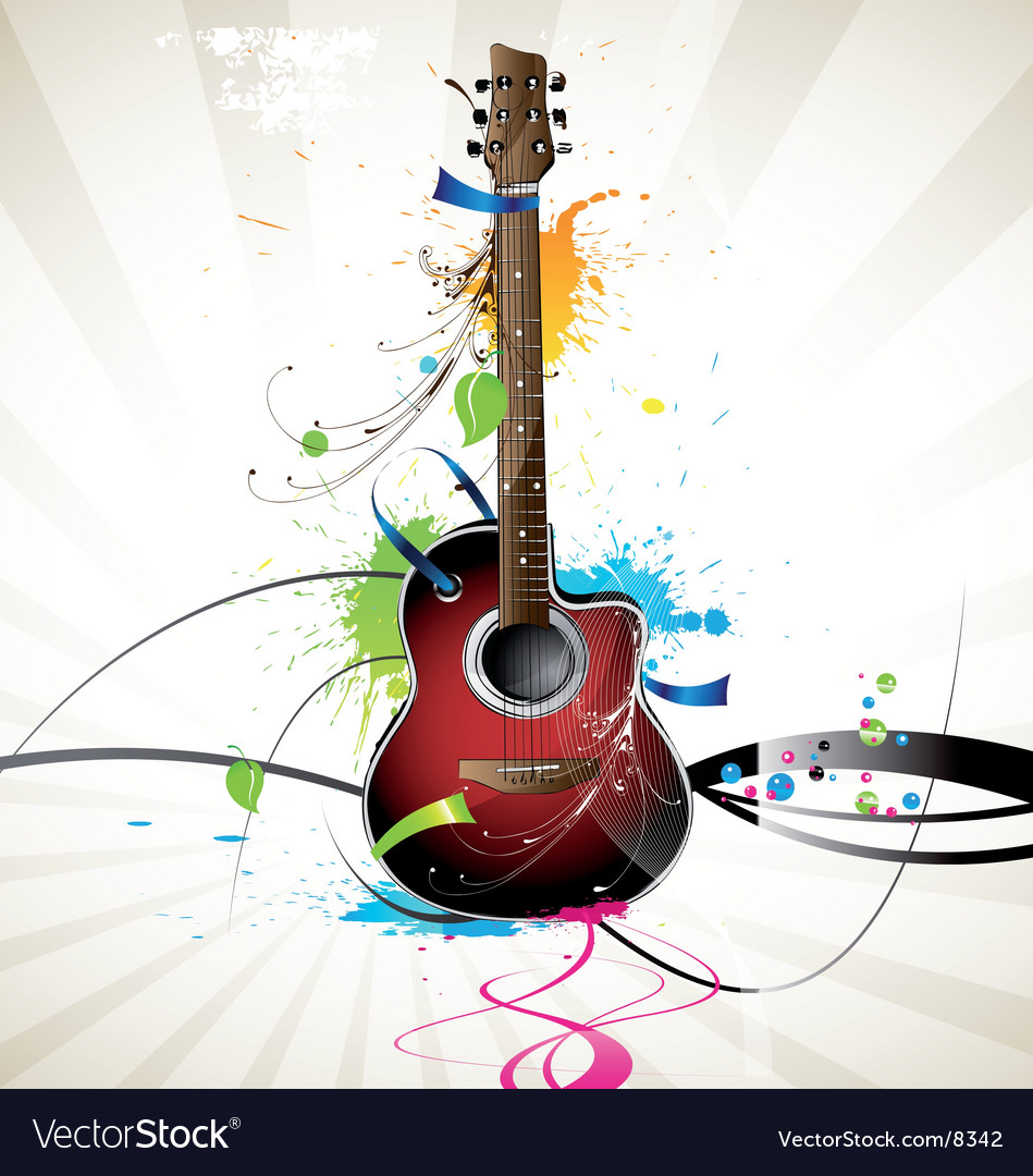 Guitar vector | Price: 3 Credit (USD $3)