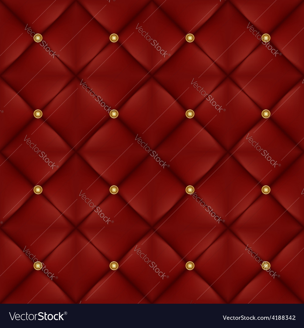 Upholstery seamless pattern with gold buttons vector | Price: 1 Credit (USD $1)