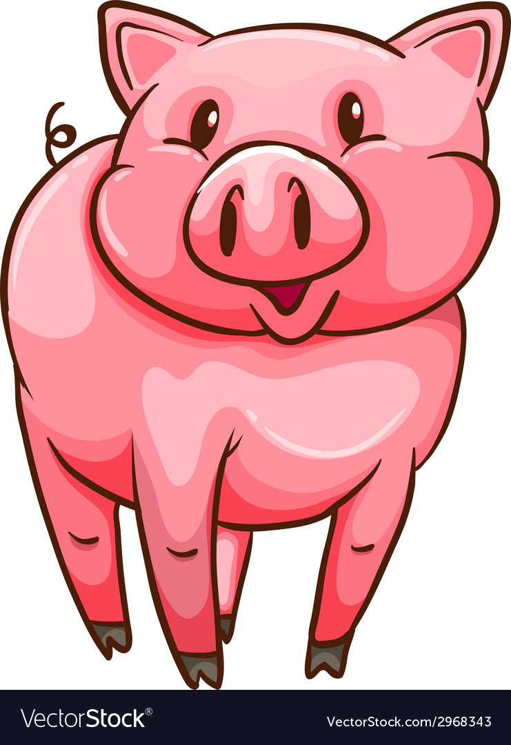 A simple sketch of a pig vector | Price: 1 Credit (USD $1)