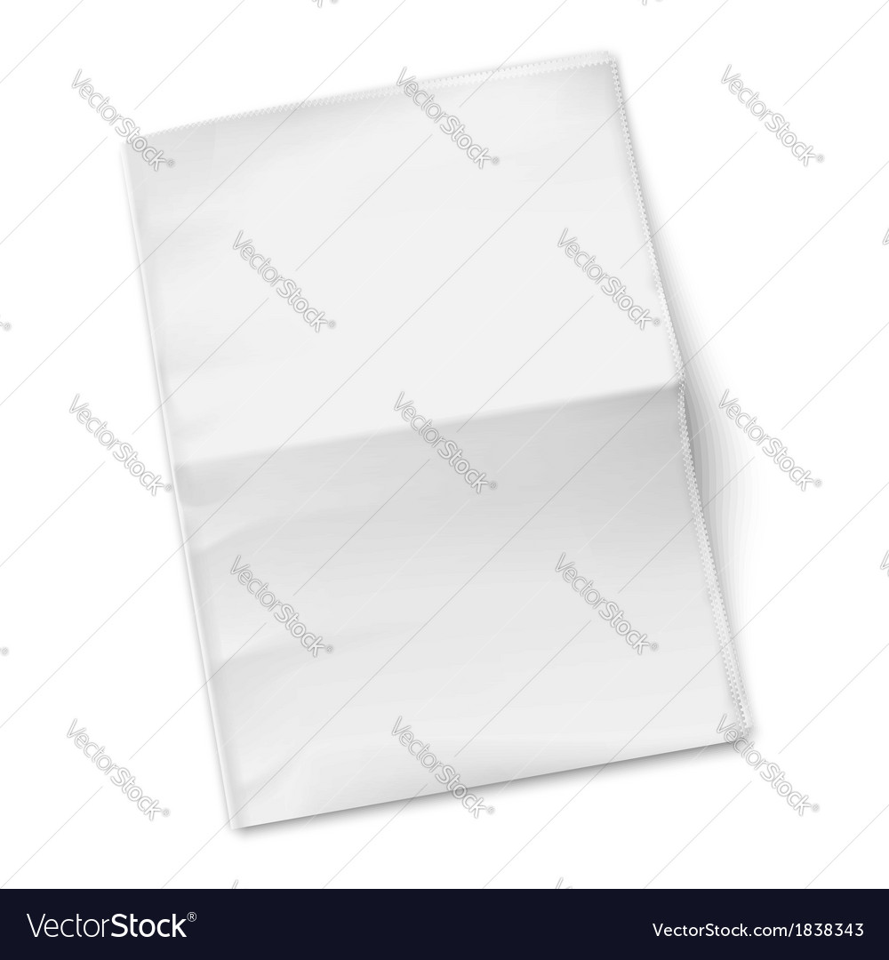 Blank newspaper template on white background vector | Price: 1 Credit (USD $1)