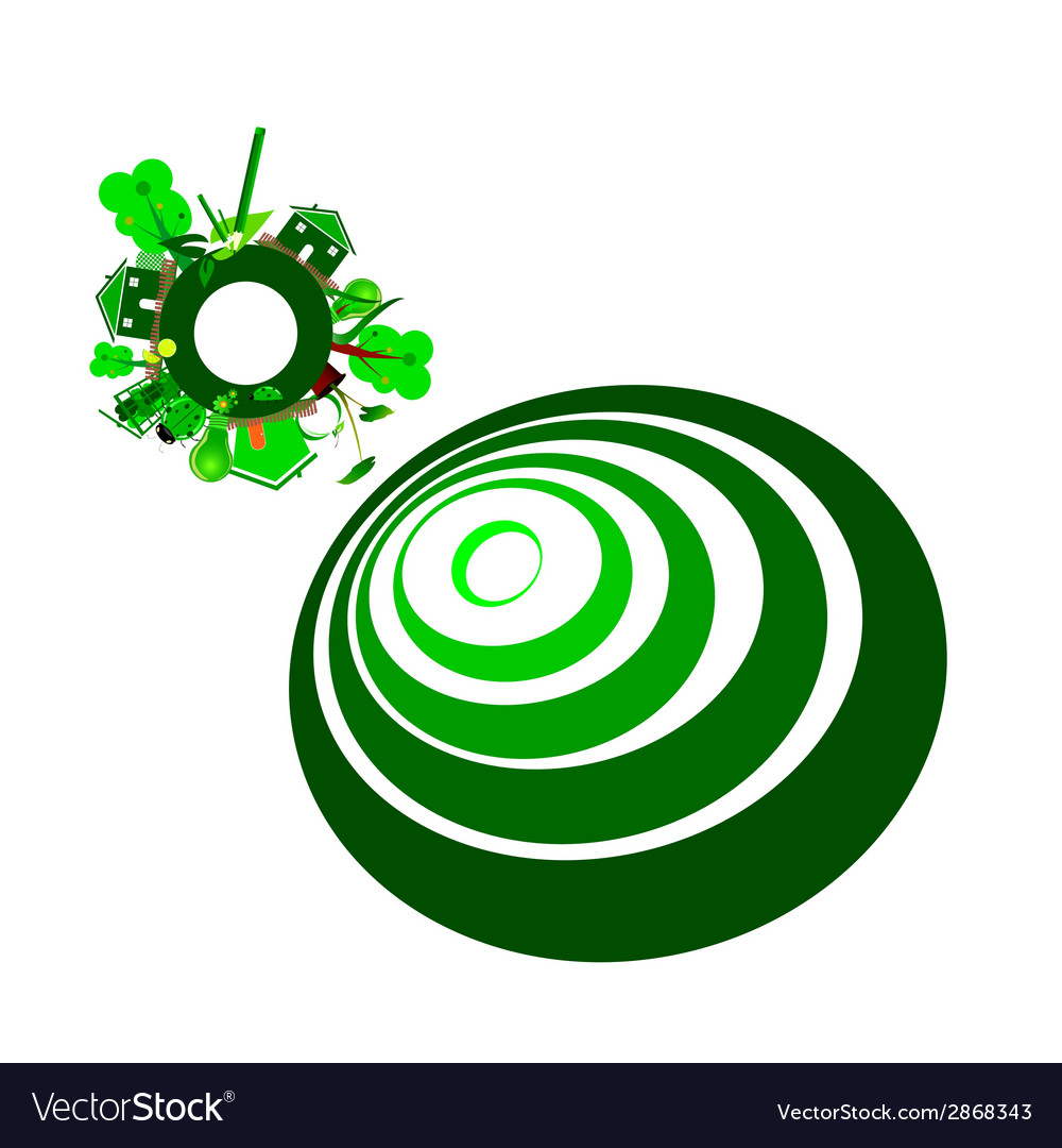 Ecology sign and green vector   Price: 1 Credit (USD $1)
