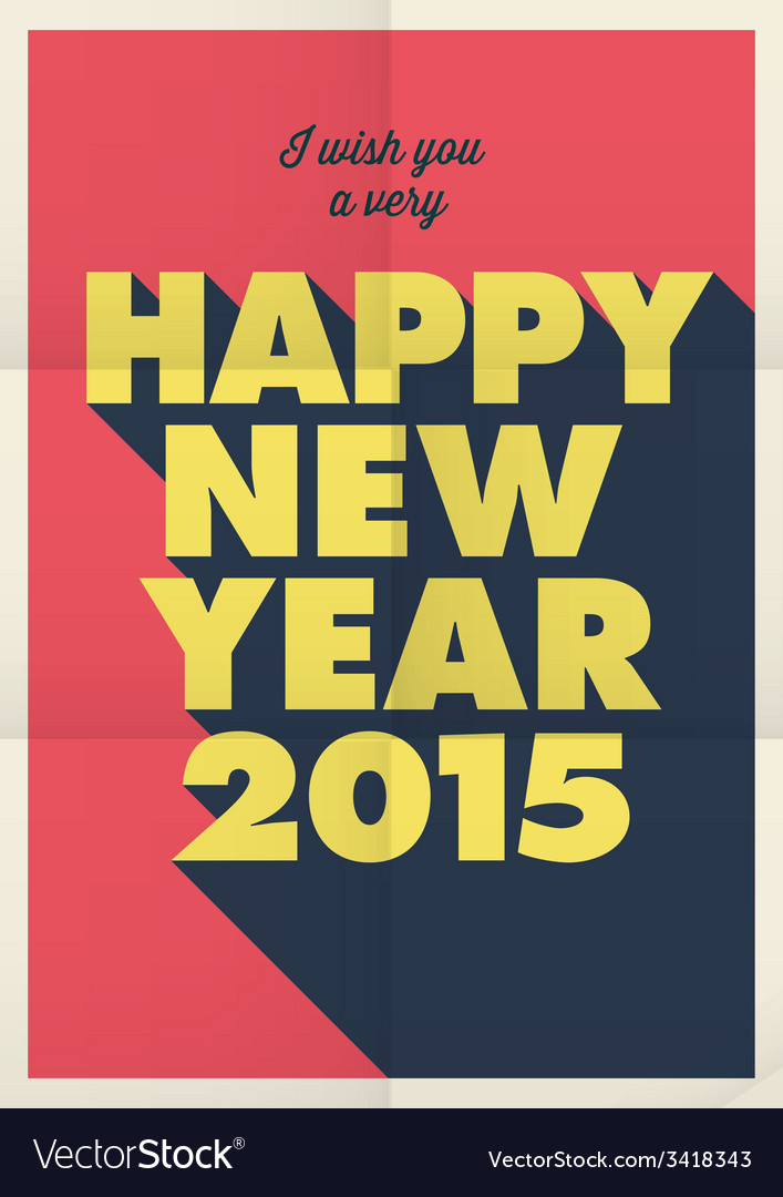 Happy new year 2015 poster vector   Price: 1 Credit (USD $1)