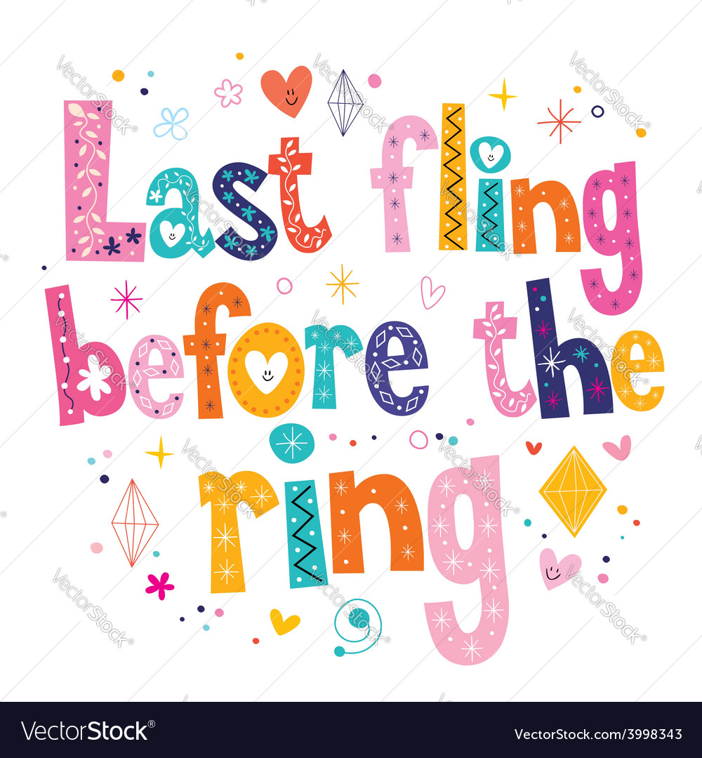 Last fling before the ring vector | Price: 1 Credit (USD $1)