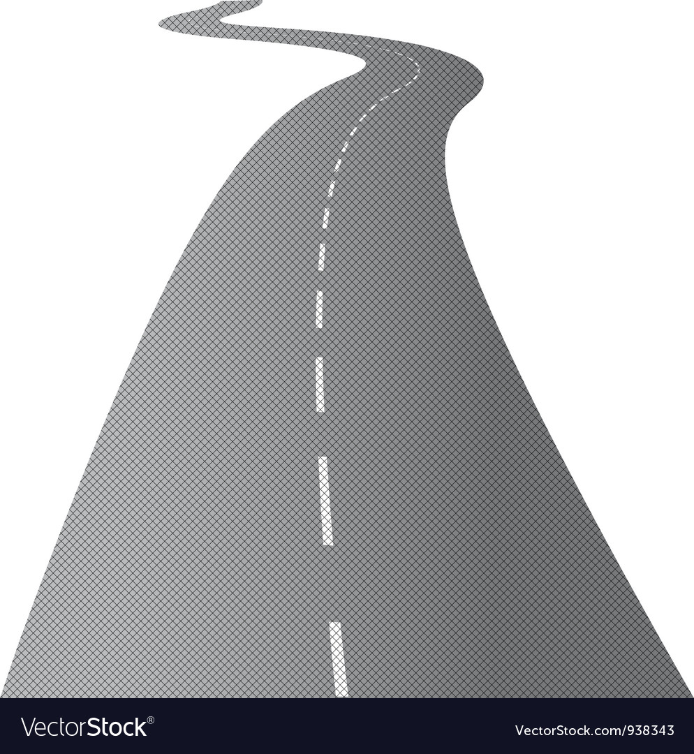 Long swirling road vector | Price: 1 Credit (USD $1)