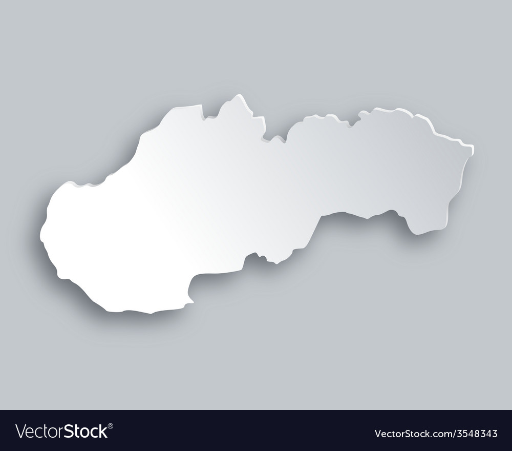 Map of slovakia vector | Price: 1 Credit (USD $1)