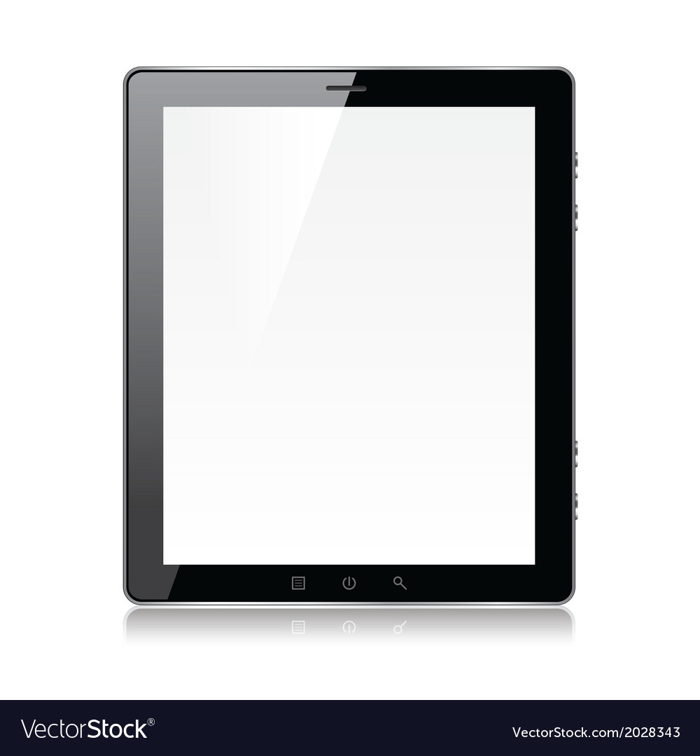 Object tablet vector | Price: 1 Credit (USD $1)
