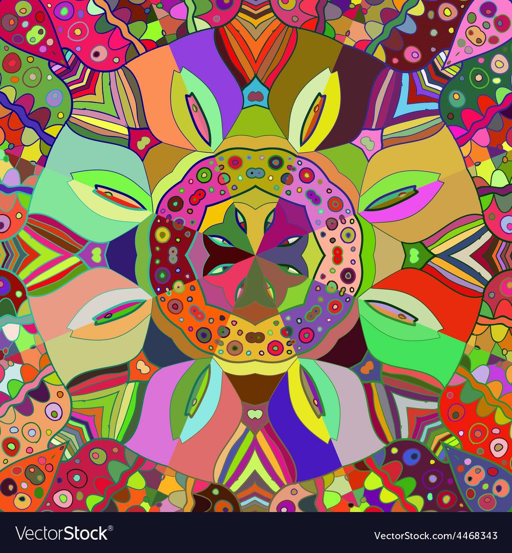 Oriental traditional ornament motif vector | Price: 1 Credit (USD $1)