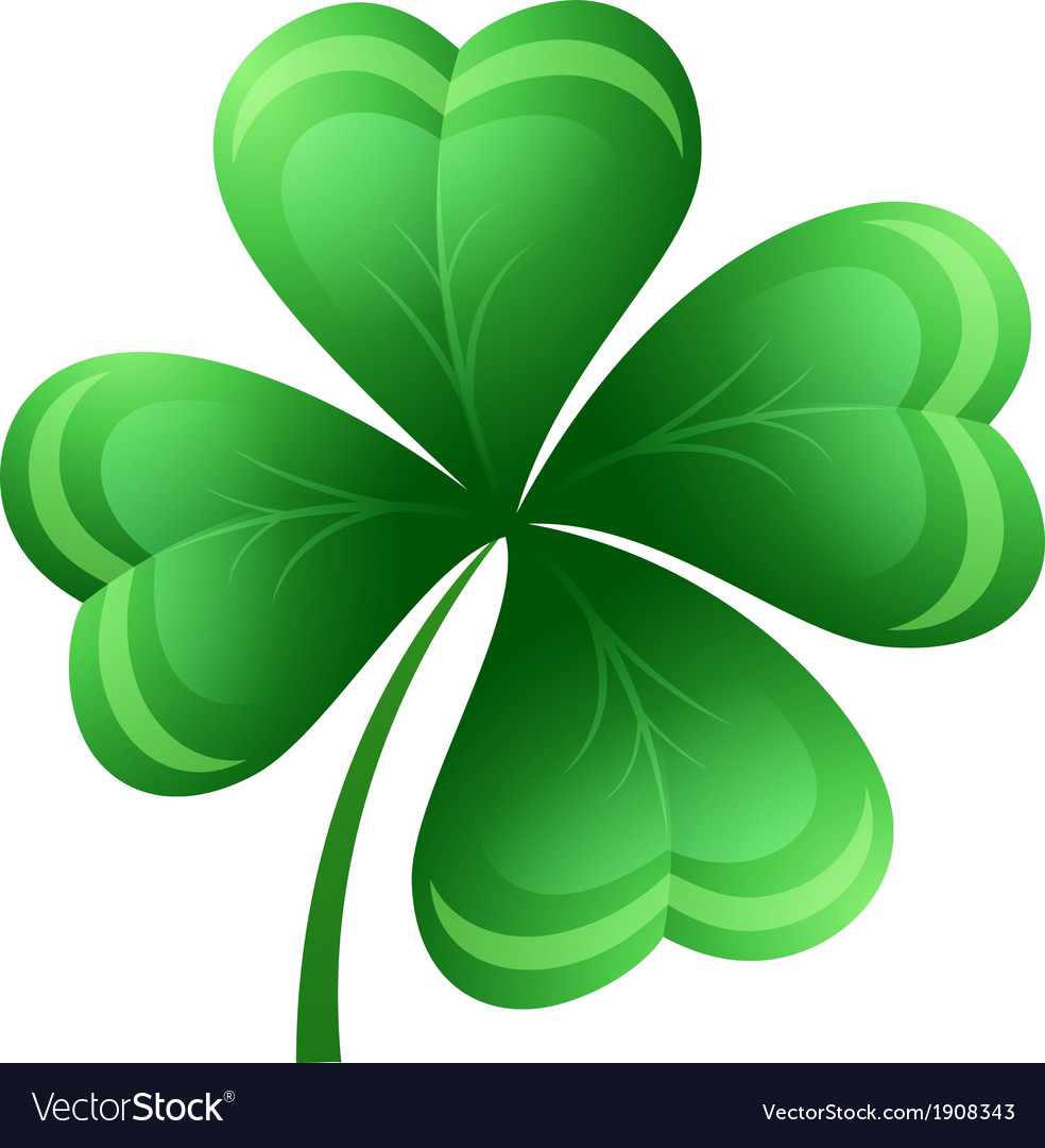 Shamrock or clover leaf vector | Price: 1 Credit (USD $1)