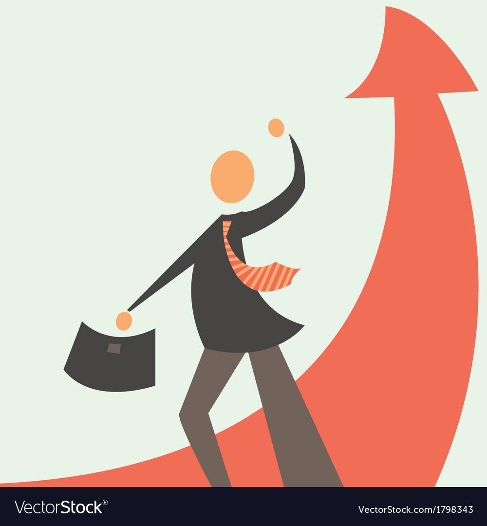 Successful development in business vector | Price: 1 Credit (USD $1)