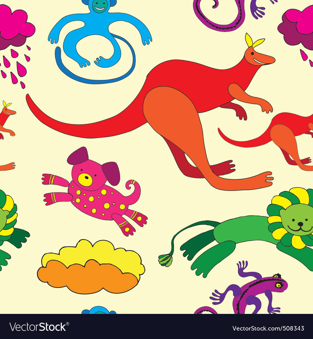 Wildlife pattern vector | Price: 1 Credit (USD $1)