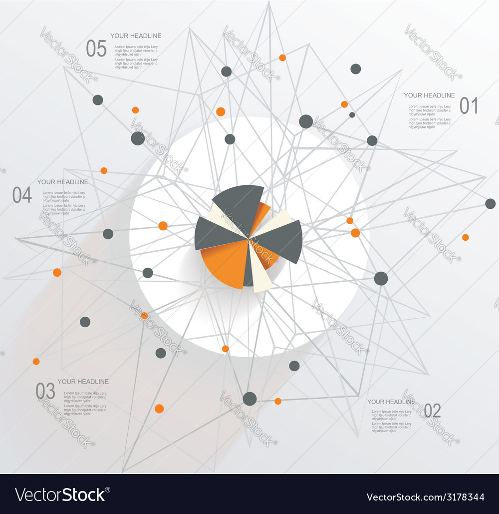 Abstract mesh background with circle infographics vector | Price: 1 Credit (USD $1)