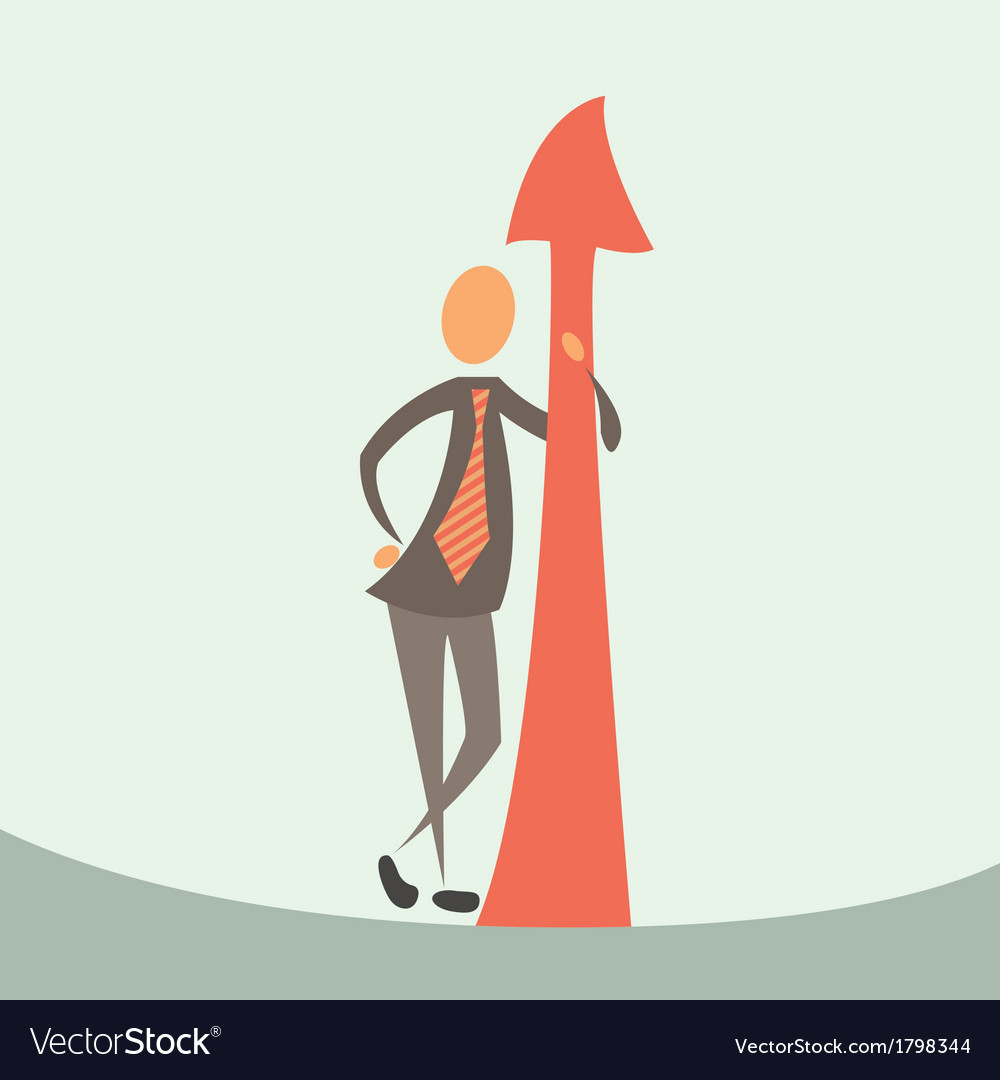 Businessman and arrow of success vector | Price: 1 Credit (USD $1)
