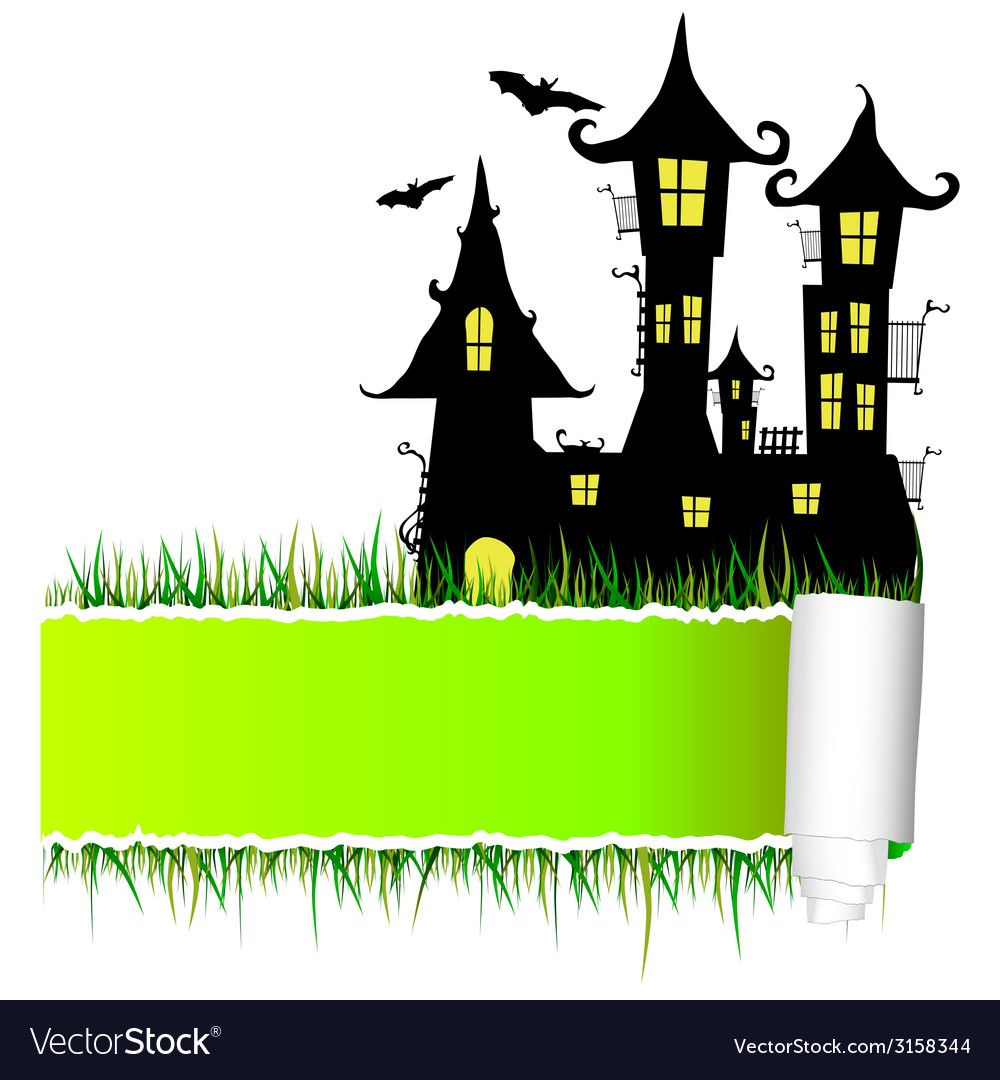 Castle with tearing paper vector | Price: 1 Credit (USD $1)