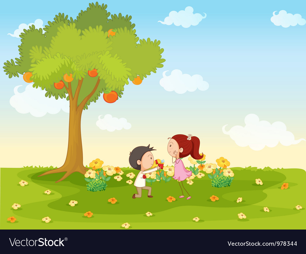 Cute marriage proposal vector | Price: 3 Credit (USD $3)