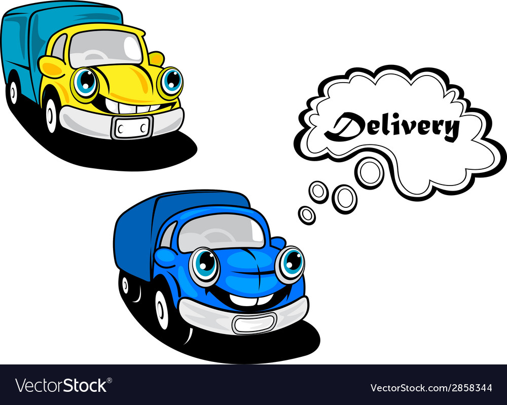 Cute smiling retro cartoon cars vector | Price: 1 Credit (USD $1)