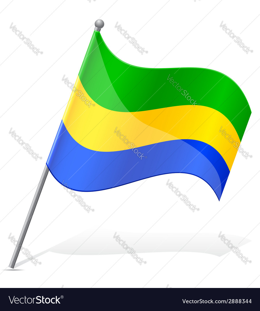 Flag of gabon vector | Price: 1 Credit (USD $1)