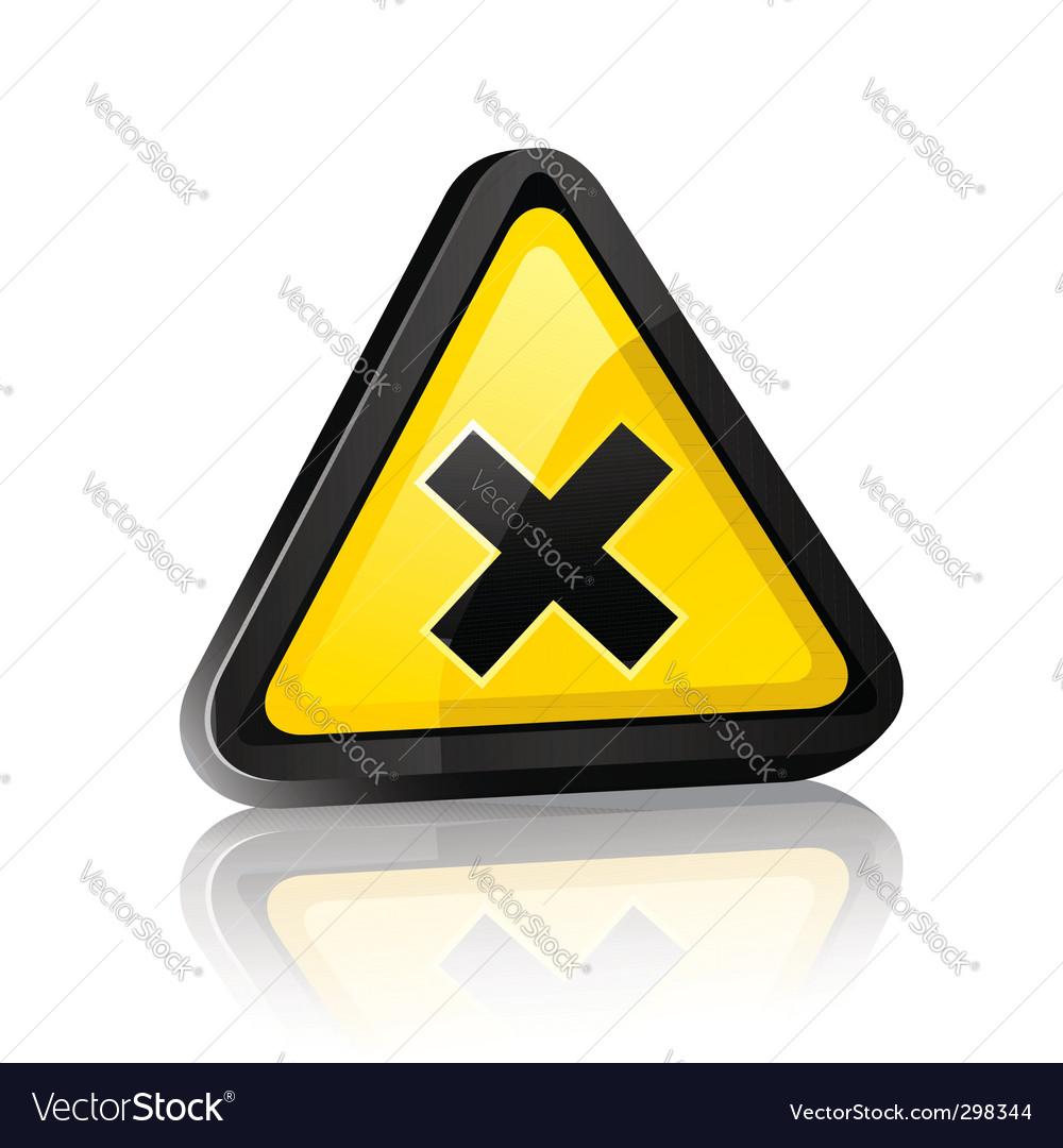 Hazard warning sign vector | Price: 1 Credit (USD $1)